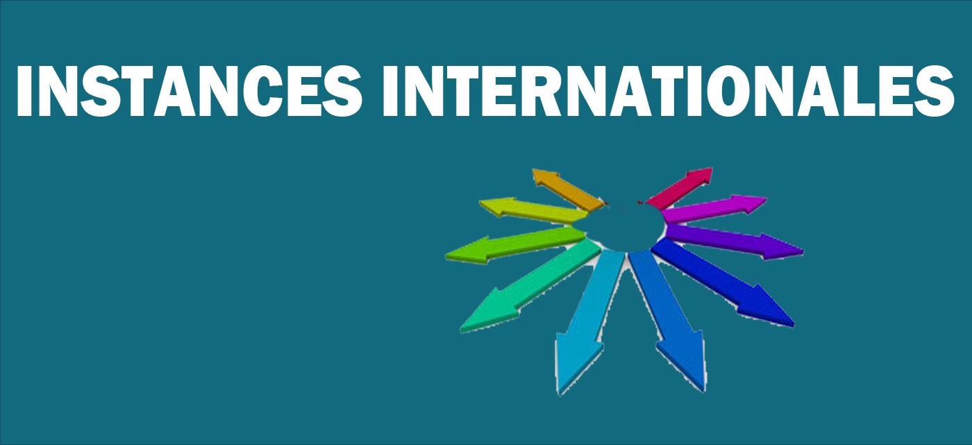 Instances internationales