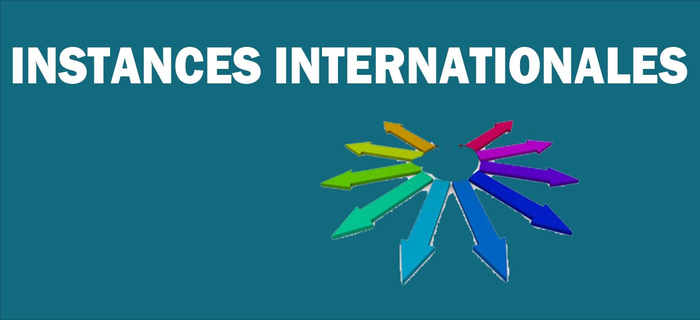 Instances internationales