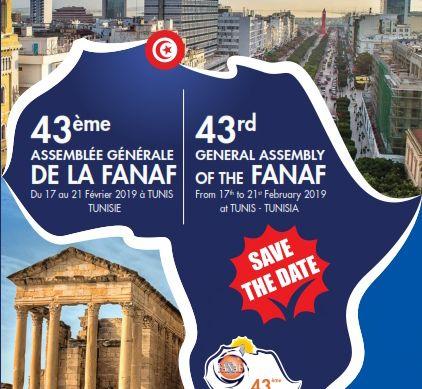 43ème Assemblée Générale de la FANAF du 17 au 21 Février 2019 à Tunis
