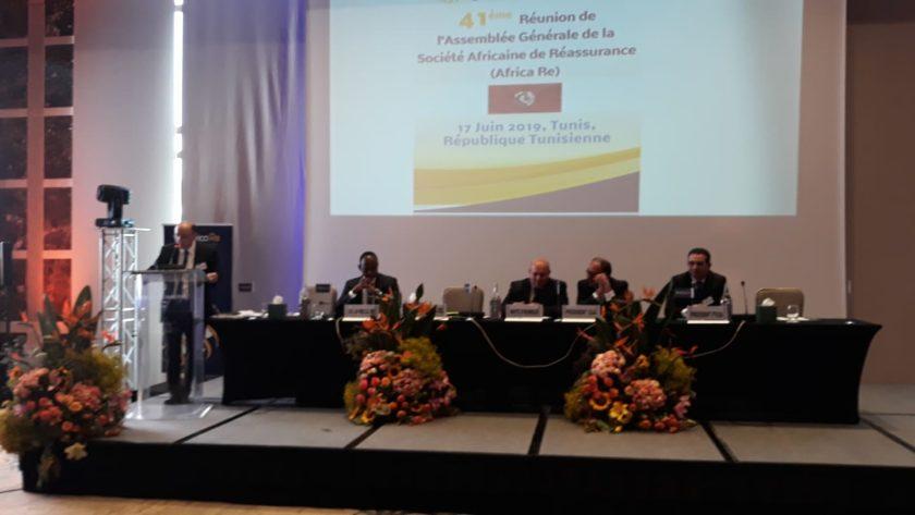 41ème réunion de l'assemblée générale de la société africaine de réassurance  Africa Ré Tunis 17 juin 2019