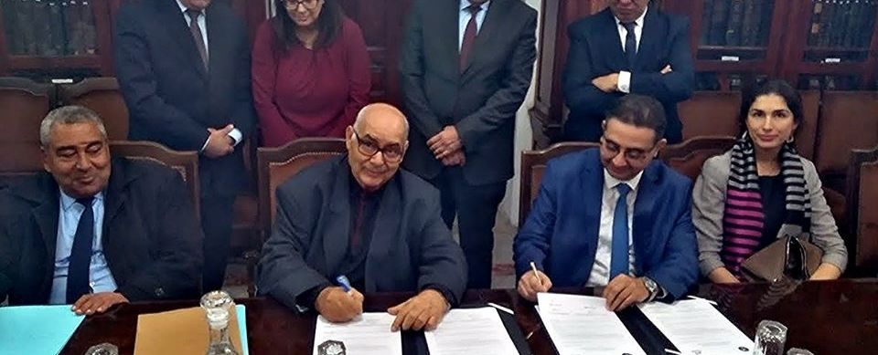 إمضاء اتفاقية اطارية لتوزيع عقود التامين عبر شبكة مؤسسات التمويل الصغير بين الجامعة التونسية لشركات التامين والجمعية المهنية التونسية لمؤسسات التمويل الصغير
