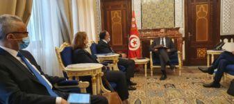 لقى وزير المالية السيد محمد نزار يعيش أمس بالسيد حافظ الغربي رئيس الهيئة العامة للتأمين